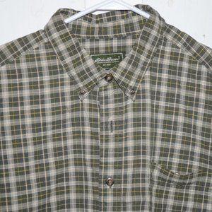 Eddie bauer button up mens shirt size XL J685